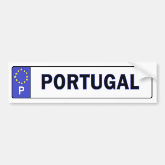 Portugal EU License Sticker