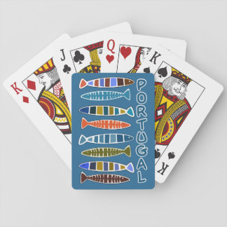PORTUGAL Fish Pattern playing cards
