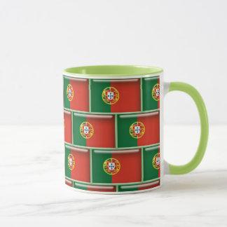 Portugal flag 3D pattern