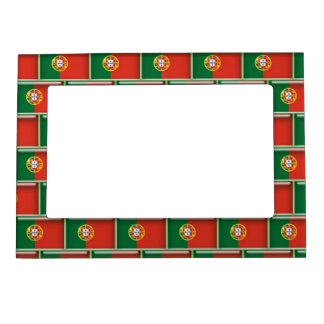 Portugal flag 3D pattern Magnetic Picture Frame