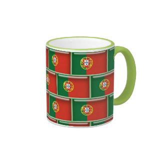 Portugal flag 3D pattern Ringer Mug