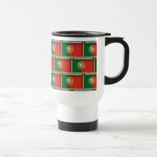Portugal flag 3D pattern Stainless Steel Travel Mug