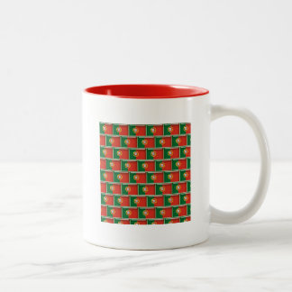 Portugal flag 3D pattern Two-Tone Mug
