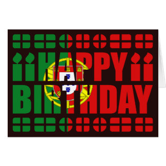 Portugal Flag Birthday Card