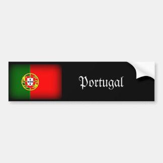 Portugal Flag Black Edge Bumper Sticker