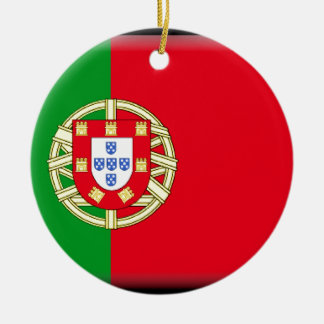 Portugal Flag Christmas Ornament