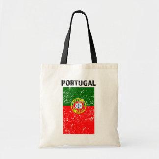 Portugal Flag -Distressed tote bag
