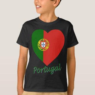 Portugal Flag Heart T-Shirt