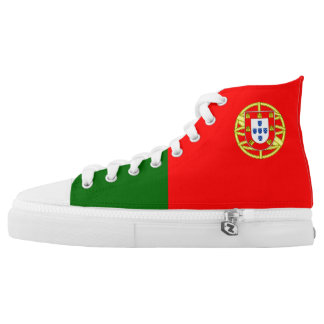 Portugal Flag High Top Shoes