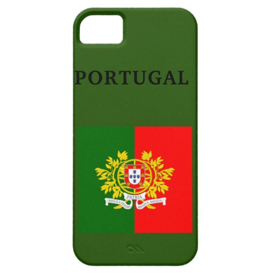 PORTUGAL FLAG i Phone SE+ 5/5S, Barely There