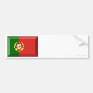 Portugal Flag Jewel Bumper Sticker