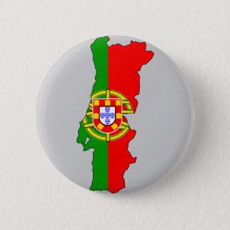 Portugal flag map 6 cm round badge