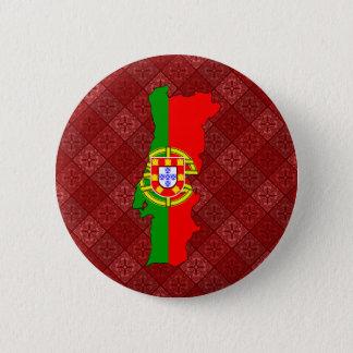Portugal Flag Map full size 6 Cm Round Badge