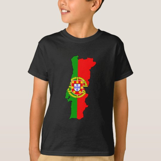 Portugal flag map T-Shirt