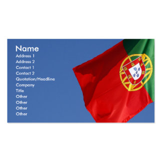 Portugal flag pack of standard business cards