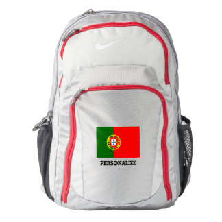 Portugal flag Portuguese pride personalized Backpack