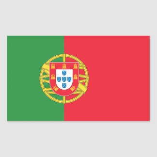 Portugal Flag Rectangular Sticker