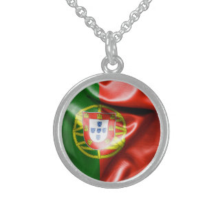 Portugal Flag Sterling Silver Necklace