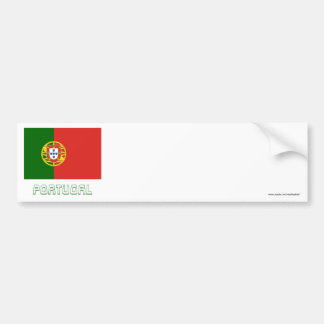 Portugal Flag with Name Bumper Sticker
