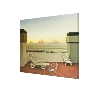 Portugal Funchal Rooftop Sunrise Wrapped Canvas Gallery Wrap Canvas