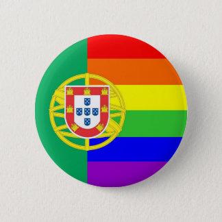 portugal gay proud rainbow flag homosexual 6 cm round badge
