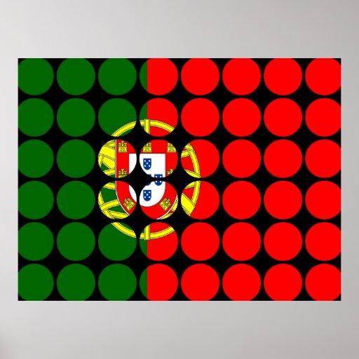 Portugal Girly Chic : Polka Dot Portuguese Flag Print