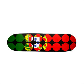 Portugal Girly Chic : Polka Dot Portuguese Flag Skate Deck