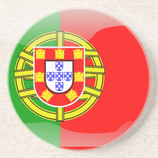 Portugal glossy flag coaster
