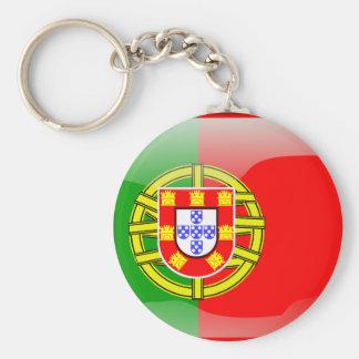 Portugal glossy flag key ring