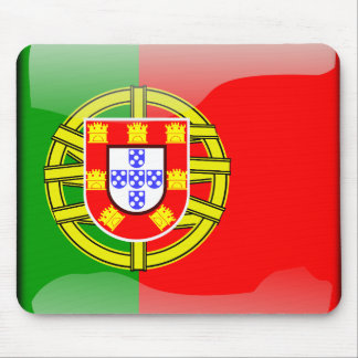 Portugal glossy flag mouse mat