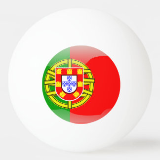 Portugal glossy flag ping pong ball