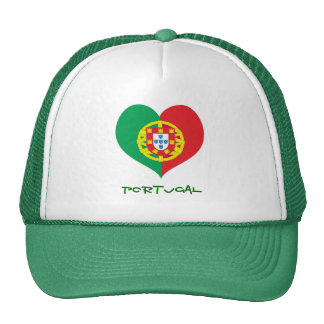Portugal heart trucker hat