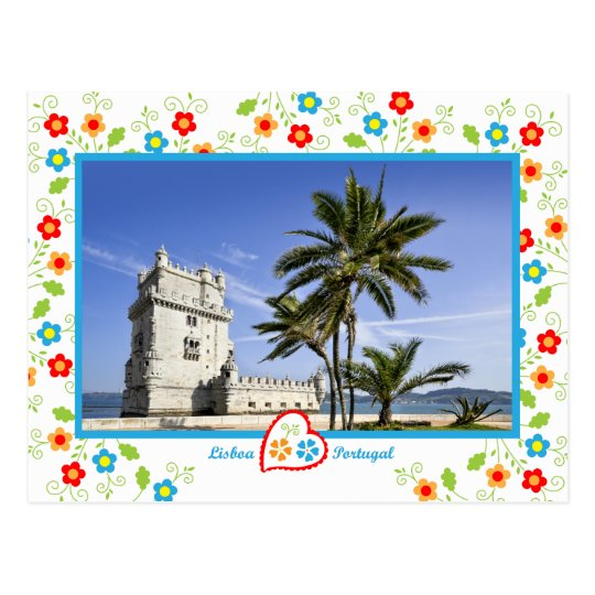 Portugal in photos - Belém Tower Postcard