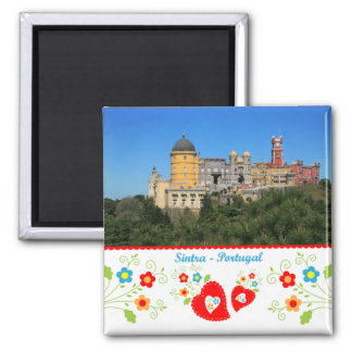 Portugal in photos - Sintra Square Magnet