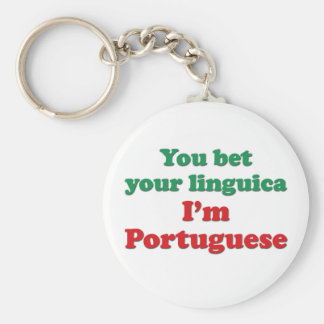 Portugal Linguica 2 Basic Round Button Key Ring