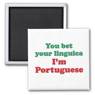 Portugal Linguica 2 Square Magnet