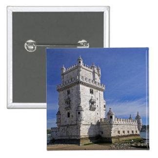Portugal, Lisbon. Belem Tower, a UNESCO World 15 Cm Square Badge