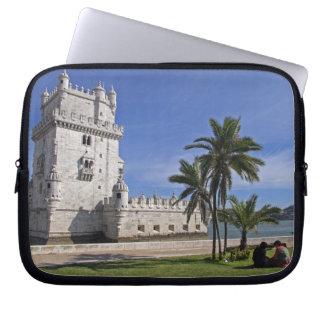 Portugal, Lisbon. Belem Tower, a UNESCO World 2 Laptop Sleeve