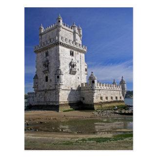 Portugal, Lisbon. Belem Tower, a UNESCO World Postcard