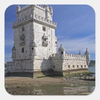 Portugal, Lisbon. Belem Tower, a UNESCO World Square Sticker