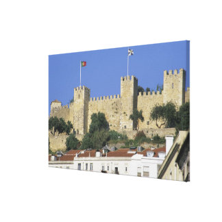 Portugal, Lisbon. Castelo de Sao Jorge. Stretched Canvas Print