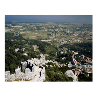 Portugal, Lisbon Province, Sintra, View From Postcard