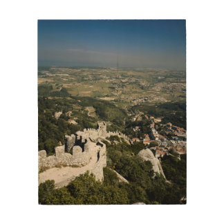 Portugal, Lisbon Province, Sintra, View From Wood Print