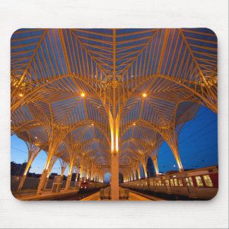 Portugal, Lisbon. View Of Modern Station Mouse Mat
