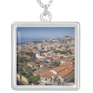 Portugal, Madeira Island, Funchal. Cable car Silver Plated Necklace