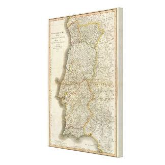 Portugal Map Canvas Print