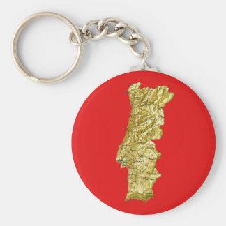 Portugal Map Keychain