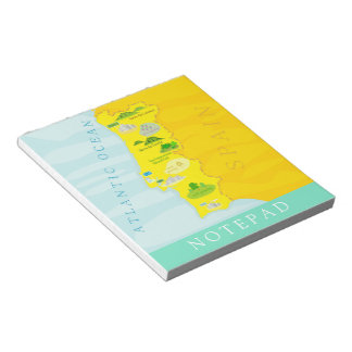 Portugal map notepad