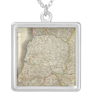 Portugal Map Silver Plated Necklace