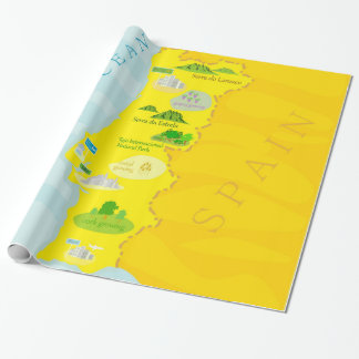 Portugal map wrapping paper